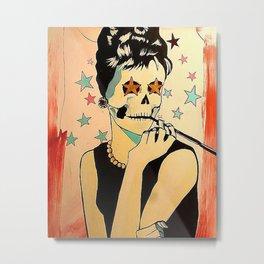 Audrey Pop Art is Dead Metal Print