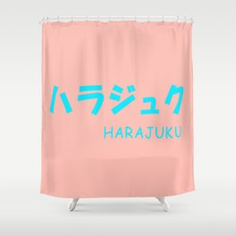 HARAJUKU Pink x Blue Shower Curtain