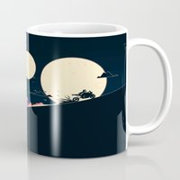 sci fi Mugs featuring Sci-Fi Motorcycle Concept by blackcoffeeandtoast