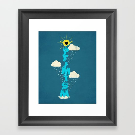 Yay for Optimism! Framed Art Print