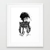 edward scissorhands Framed Art Prints featuring Edward Scissorhands by Ben BASSO