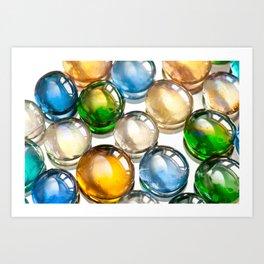 Glass balls marbles abstract Art Print
