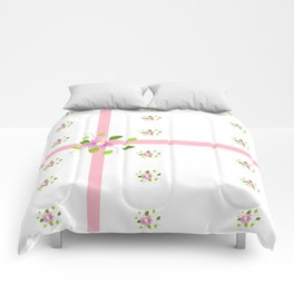 Ribbon And Floral Comforters