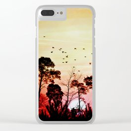 Romantic sunset Clear iPhone Case