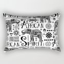 Africa Style Elephant Black And White Tribal Pattern by lebensartdesign