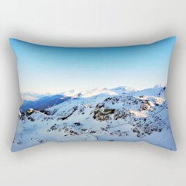 Shades of blue at the mountains Rectangular Pillow