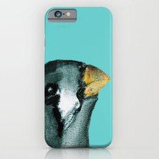 Zebra finch - teal iPhone 6s Slim Case