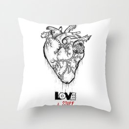 Heart Of Hearts: Outline & Stuff Throw Pillow