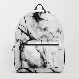 Marble Concrete Stone Texture Pattern Effect Dark Grain Backpack