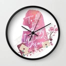 lara jean - to all the boy's i've loved before Wall Clock