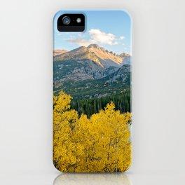 BEAR LAKE AUTUMN COLORADO ROCKY MOUNTAIN NATIONAL PARK FALL LANDSCAPE iPhone Case