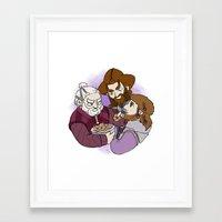 nori Framed Art Prints featuring Dori, Nori and Ori  by BlueSparkle