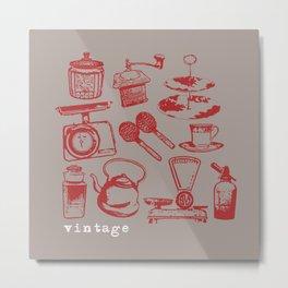kitchen vintage Metal Print