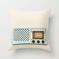 On the Radio #2 Throw Pillow