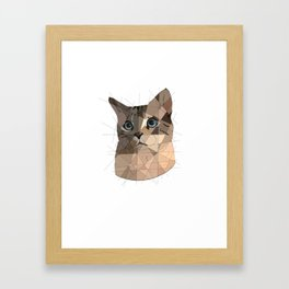 Cat Shapes Framed Art Print