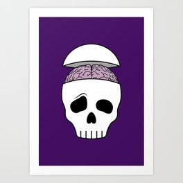 Brainy Skull Art Print