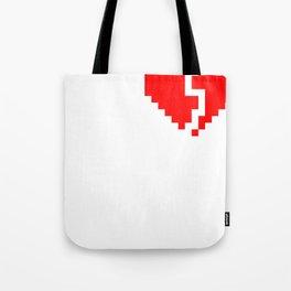 broken pixel heart Tote Bag