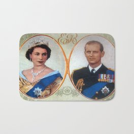 Queen Elizabeth 11 & Prince Philip in 1952 Bath Mat