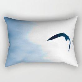 Eagle In Flight Rectangular Pillow