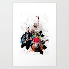 Blink-182 - Tom Delonge, Mark Hoppus, Travis Barker Art Print