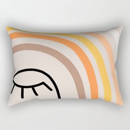 Rainbow State of Mind - earthy Rectangular Pillow