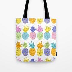 Colorful Pineapples Tote Bag