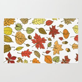 Autumn leaves, berries and nuts Rug