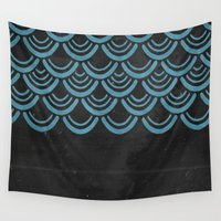 scales Wall Tapestries featuring Scales  by Last Call