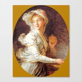 "Jean-Honoré Fragonard ""The Vestal"" Canvas Print"