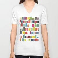 city V-neck T-shirts featuring City by Cassia Beck