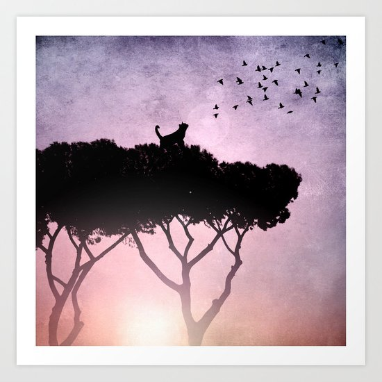Cat King Art Print