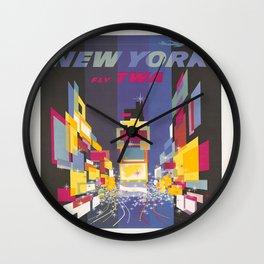 Fly TWA New York Wall Clock