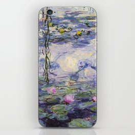 1917 Water Lilies oil on canvas. Claude Monet. Vintage fine art. iPhone Skin