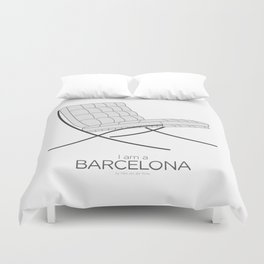 Chairs - A tribute to seats: I'm a Barcelona (poster) Duvet Cover