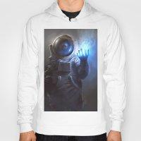 wizard Hoodies featuring Astronaut Wizard by Jordan Grimmer