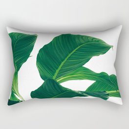 Green Leafs (Color) Rectangular Pillow