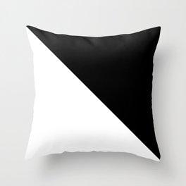 WHITE\BLACK Throw Pillow
