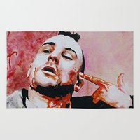 taxi driver Area & Throw Rugs featuring Taxi driver by BaconFactory