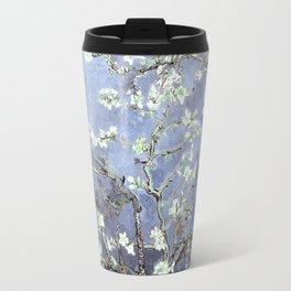 Vincent Van Gogh Almond Blossoms : Steel Blue & Gray Travel Mug