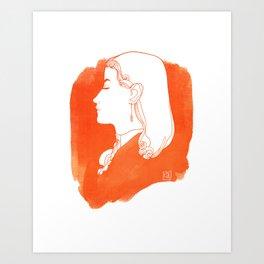 Orange Victorian Art Print
