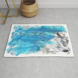 Modern Abstract Art - Blue Essence - Sharon Cummings Rug