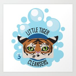Little Tiger Cleansers Art Print