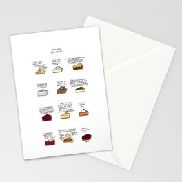 Waitress Pies Stationery Cards