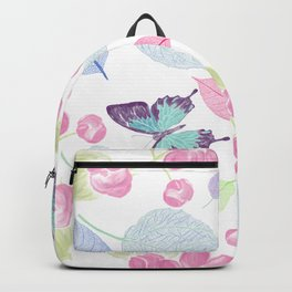 seamless  floral pattern with butterfly . Endless texture Backpack