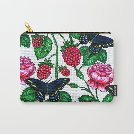 Raspberries pattern Carry-All Pouch