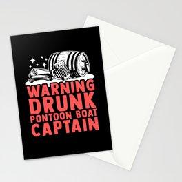 Drunk Pontoon Boat Captain | Boating Pontoon Stationery Cards