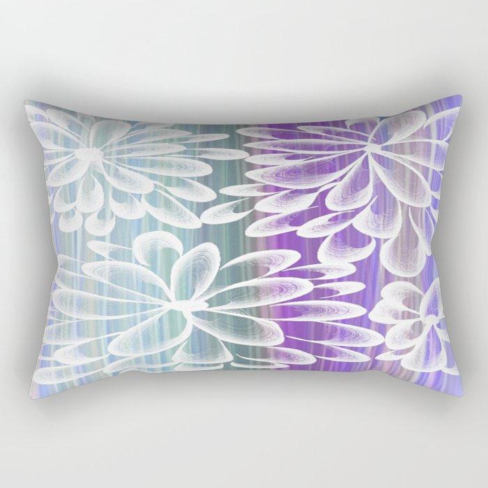 Fancy Floral Rectangular Pillow