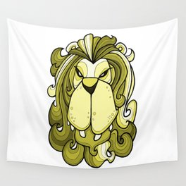 Lion - Meadowlark yellow Wall Tapestry