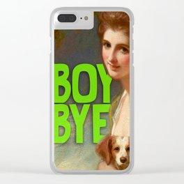 Boy Bye Clear iPhone Case