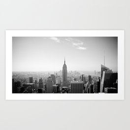 Manhattan - Empire State Building Panorama | B/W Art Print